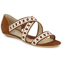 Schuhe Damen Sandalen / Sandaletten Moschino DELOS SAND Camel / Elfenbein