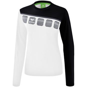 Kleidung Damen Sweatshirts Erima Haut d'entrainement femme manches longues  5-C blanc/noir/gris