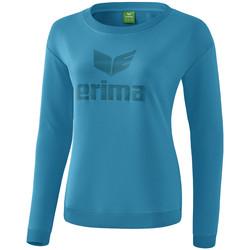 Kleidung Damen Langarmshirts Erima Sweat-shirt femme  Essential bleu clair/bleu