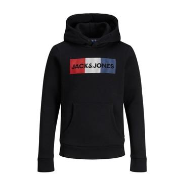 Kleidung Jungen Sweatshirts Jack & Jones JJECORP LOGO PLAY SWEAT Schwarz
