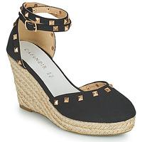 Schuhe Damen Sandalen / Sandaletten Café Noir NOEL Schwarz