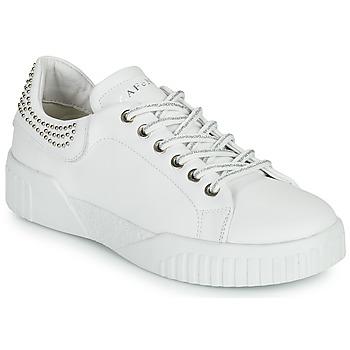 Schuhe Damen Sneaker Low Café Noir THINA Weiss