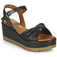 Schuhe Damen Sandalen / Sandaletten Café Noir HOLISTA Schwarz