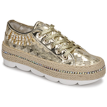 Schuhe Damen Sneaker Low Café Noir KINITA Gold