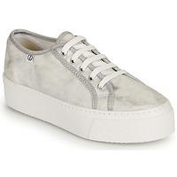 Schuhe Damen Sneaker Low Yurban SUPERTELA Silbern