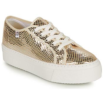 Schuhe Damen Sneaker Low Yurban SUPERTELA Gold