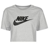 Kleidung Damen T-Shirts Nike NSTEE ESSNTL CRP ICN FTR Grau / Schwarz