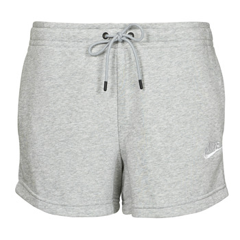 Kleidung Damen Shorts / Bermudas Nike NSESSNTL FLC HR SHORT FT Grau / Weiss