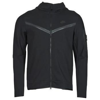 Kleidung Herren Trainingsjacken Nike NSTCH FLC HOODIE FZ WR Schwarz