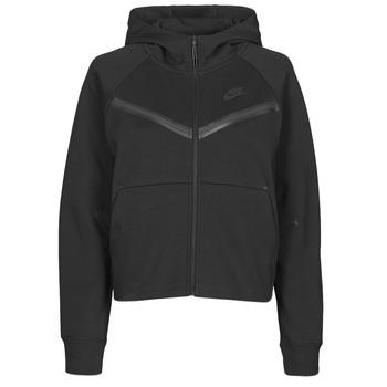 Kleidung Damen Trainingsjacken Nike NSTCH FLC WR ESSNTL FZ HDY Schwarz