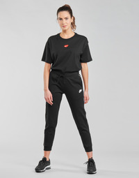 Kleidung Damen Jogginghosen Nike NSMLNESSNTL FLC MR JGGR Schwarz / Weiss