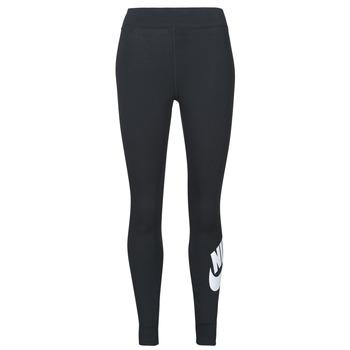 Kleidung Damen Leggings Nike NSESSNTL GX HR LGGNG FTRA Schwarz / Weiss