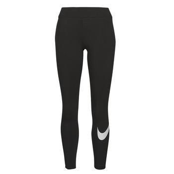 Kleidung Damen Leggings Nike NSESSNTL GX MR LGGNG SWSH Schwarz / Weiss