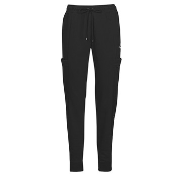 Kleidung Damen Jogginghosen Nike NSAIR PANT FLC MR Schwarz / Weiss