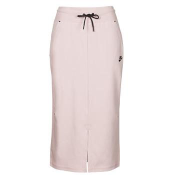 Kleidung Damen Röcke Nike NSTCH FLC SKIRT Beige / Schwarz
