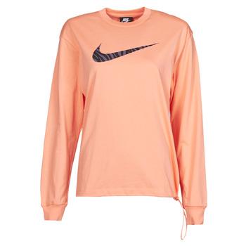 Kleidung Damen Langarmshirts Nike NSICN CLSH LS TOP HBR Rose / Violett