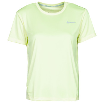 Kleidung Damen T-Shirts Nike MILER TOP SS Grün / Grau