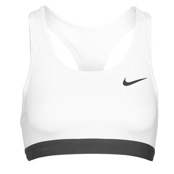Kleidung Damen Sport BHs Nike DF SWSH BAND NONPDED BRA Weiss / Schwarz