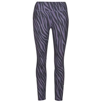 Kleidung Damen Leggings Nike NIKE ONE 7/8 AOP TGT ICNCLSH Violett / Schwarz