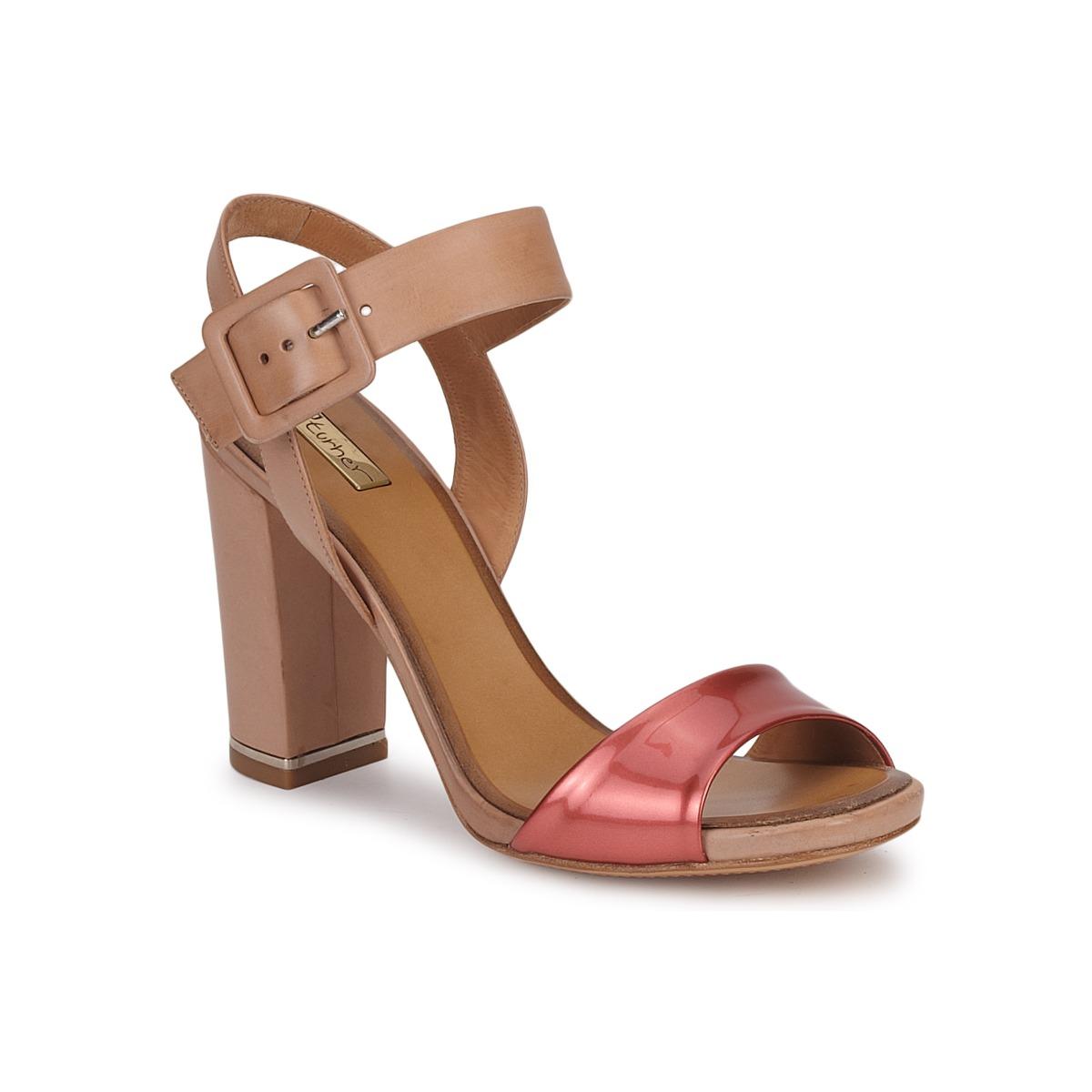 Eva Turner  Bronze / Rot - Kostenloser Versand bei Spartoode ! - Schuhe Sandalen / Sandaletten Damen 180,50 €