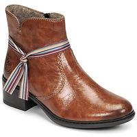 Schuhe Damen Low Boots Rieker  Braun