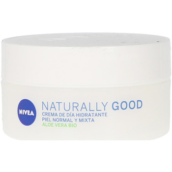Beauty Damen pflegende Körperlotion Nivea Naturally Good Crema Hidratante Día  50 ml