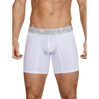 Unterwäsche Herren Boxer Clever Lange Boxershorts Kumpanias weiß Weiß