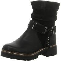Schuhe Damen Low Boots Laufsteg München Stiefeletten HW190802 BLACK schwarz