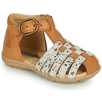 Schuhe Mädchen Sandalen / Sandaletten Citrouille et Compagnie RINE Camel / Gold