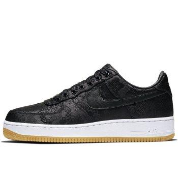 Schuhe Sneaker Low Nike Air Force 1 Low x CLOT x Fragment Black Black / University Red – White