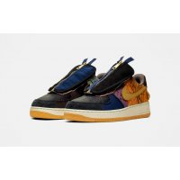 Schuhe Sneaker Low Nike Air Force 1 Low x Travis Scott Multi-Color/Muted Bronze-Fossil