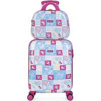 Taschen Mädchen Hartschalenkoffer Itaca ARAS Kabinenkoffer plus brauchen Mädchen Blau-Fuchsia