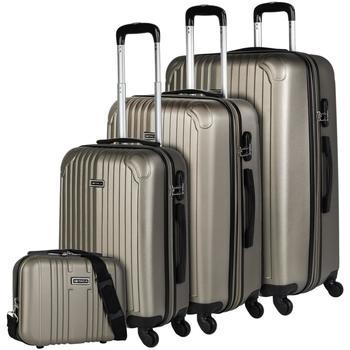 Taschen Hartschalenkoffer Itaca SEVRON Set 3 Taschen plus Bedarf Champagner