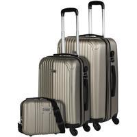 Taschen Hartschalenkoffer Itaca SEVRON Set mit zwei Koffern plus Bedarf Champagner