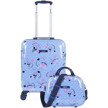Taschen Mädchen Hartschalenkoffer Skpat SMIL Kabinenkoffer und Notwendigkeit Blau