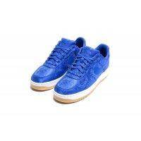 Schuhe Sneaker Low Nike Air Force 1 Low x CLOT Silk Blue Game Royal/White-Gum Light Brown