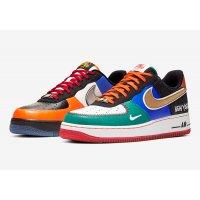 Schuhe Sneaker Low Nike Air Force 1 Low  White/Black-Total Orange-Racer Blue