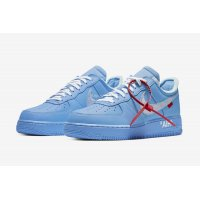 Schuhe Sneaker Low Nike Air Force 1 Low MCA University Blue/White-University Red-Metallic Silver