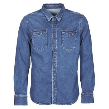 Kleidung Herren Langärmelige Hemden Yurban OPUCI Blau