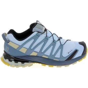 Schuhe Wanderschuhe Salomon XA Pro GTX Bleu Ciel Blau