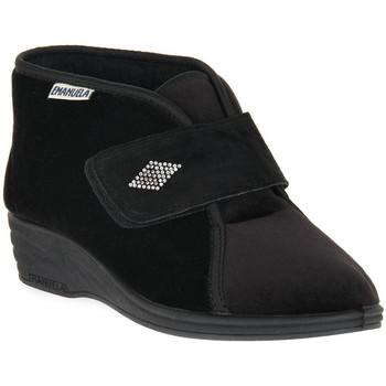 Schuhe Damen Hausschuhe Emanuela 536 NERO PANTOFOLA Nero