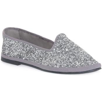 Schuhe Damen Ballerinas Priv Lab GLITTER ARGENTO Grigio