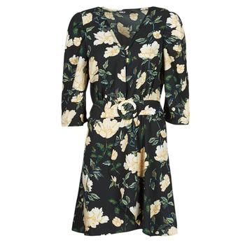 Kleidung Damen Kurze Kleider Only ONLEVE 3/4 SLEEVE SHORT DRESS WVN Schwarz