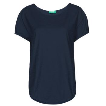 Kleidung Damen T-Shirts Benetton 3BVXE19E6-016 Blau