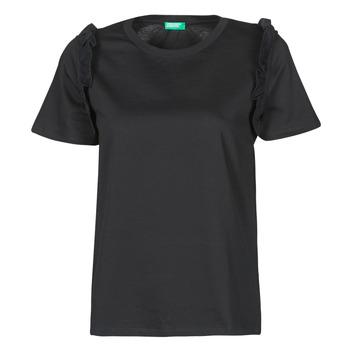 Kleidung Damen T-Shirts Benetton MARIELLA Schwarz