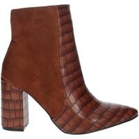 Schuhe Damen Low Boots Pregunta PFC9144-MC Braun Leder