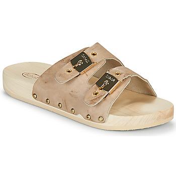 Schuhe Damen Pantoffel Scholl PESCURA 2 STRAPS Braun