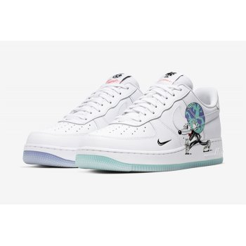 Schuhe Sneaker Low Nike Air Force 1 Earth Day White