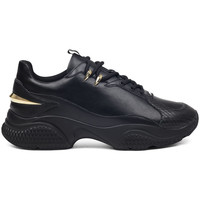Schuhe Herren Sneaker Low Ed Hardy - Puand leather chunky runner with gold detail Schwarz