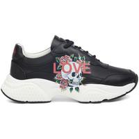 Schuhe Damen Sneaker Low Ed Hardy - Insert runner-love black/white Schwarz